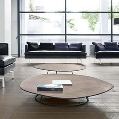 Pebble Low Coffee Table Walnut - Ligne Roset