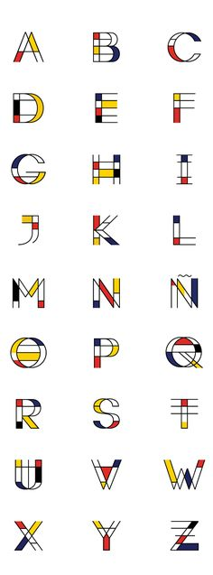 Mondrian Font On Behance
