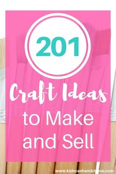 I've been searching for crafts to make for sale and this post delivered. 201 great ideas of crafts to make and sell. DIY projects from glass, wood, yarn, fabric and more!