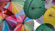 Other type of colorful umbrellas in #Fethiye