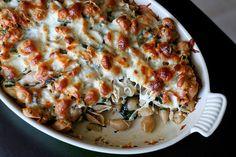 Mom's Baked Chicken & Spinach Pasta