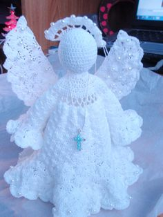 Crocheted Heavenly angel. by leisurecrochet on Etsy