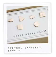 Control earrings by upper metal class - VHS tapes anyone?
