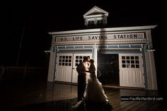 Frankfort, Michigan fall wedding photography Elberta Life Saving Station west northern michigan reception photo by Paul Retherford