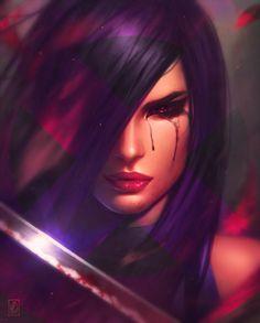 ArtStation: Psylocke - Art by Milen Dimitrov Marvel Xmen, Marvel Dc Comics, Marvel Heroes, Marvel Characters, Female Characters, Female Villains, Movie Characters, Psylocke, X Men