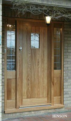 Solid oak front door ..