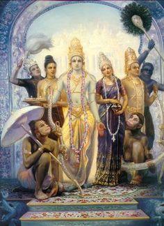 Sita-Rama and Laksman+Hanuman by FridolinFroehlich on DeviantArt