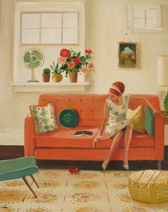"""artisticmoods: """"Gorgeous, elegant paintings by Janet Hill, posted on the blog today! http://www.artisticmoods.com/janet-hill/ """""""