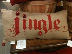 burlap christmas pillow