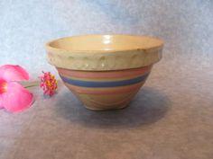 McCoy Yellow Ware Tiny Crock Mixing Bowl, Small McCoy Crock Mixing Bowl by VintageLoversShop on Etsy https://www.etsy.com/listing/473729041/mccoy-yellow-ware-tiny-crock-mixing-bowl