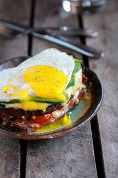 Crispy Kale BLT Croque Madame with Smoked Gouda   Avocado | halfbakedharvest.com