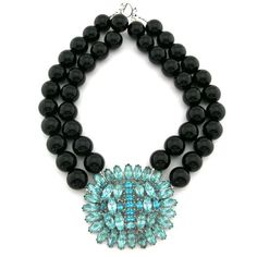 Black with turquoise bling...wow