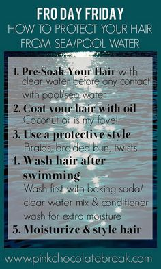 how to protect your natural hair from sea and pool water 11 by jocelinapaixaofortes, via Flickr