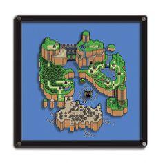 Quadro 3D Mapa Super