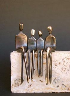 Original art for sale at UGallery.com | Family of Four by Yenny Cocq | $450 | sculpture | 4.5' h x 3' w | http://www.ugallery.com/sculpture-family-of-four