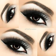 nyxcosmetics jumbo pencils in milk and black bean to create this look, for the silver I've added Tiara eyeshadow from , liner is LBD gel liner , brows are in dark brown an Smoky Eyeliner, Smokey Eye Makeup, Natural Eyeliner, Eyeshadow Looks, Eyeshadow Makeup, Sparkly Eyeshadow, Black Smokey Eye, Hooded Eye Makeup, Hooded Eyes