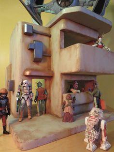 "Custom Tatooine Desert Building Playset Diorama Star Wars GI Joe 1:18 3.75"" #22"