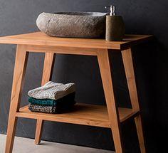 PETRON - Massivholz Waschtischunterschrank aus Teak