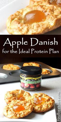 Ideal Protein Apple Danish Recipe This is one of my favorite Ideal Protein Breakfast recipes! Uses Apple Oatmeal packet. Ideal Protein Apple Danish Recipe This is one of my favorite Ideal Protein Breakfast recipes! Uses Apple Oatmeal packet. Protein Desserts, Healthy Protein Snacks, High Protein Recipes, Protein Foods, Low Carb Recipes, Protein Products, Vegan Recipes, Atkins Recipes, Health Desserts