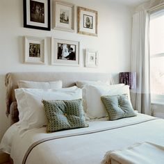 Bedroom with frame feature wall