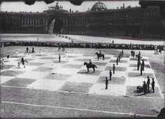 33. Human-size chess game with actual soldiers in St. Petersburg, Russia (1924).