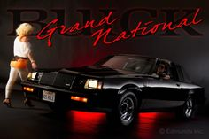Edmunds introduces its newly added 1987 Buick Regal Grand National to its long term road test fleet. 1987 Grand National, Buick Grand National Gnx, Buick Cars, Buick Regal, Old School Cars, Street Racing, Car Advertising, American Muscle Cars, Photo Shoot