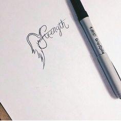 Strength wing tattoo