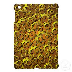Metallic Look Brass and Copper Cogs and Gears Steampunk Style iPad Mini Case