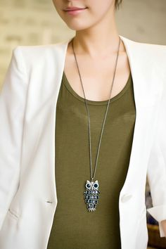 CS-DB Jewelry Silver Cloisonne Pear Chain Charm Pendants Necklaces