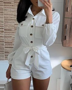 Women's Fashion Rompers Online Shopping – IVRose Trend Fashion, Look Fashion, Womens Fashion, Gothic Fashion, Rompers Women, Jumpsuits For Women, Women's Rompers, Long Sleeve Romper, Mode Style