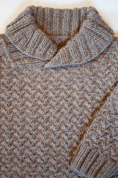 Grumperina goes to local yarn shops and Home Depot: Shawl-collared baby sweater