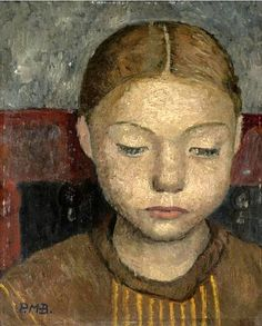 Modersohn-Becker (1876-1907) - 1905c. HEAD OF A GIRL SITTING ON A CHAIR (Sotheby's London, 2007) | Flickr - Photo Sharing!
