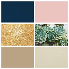 My color scheme. Navy, blush, gold, and nudes with succulent green accents.