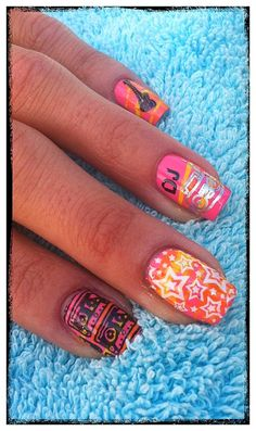 80's themed nails by Beaching Nails <3