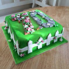 70th Birthday Cake - English country garden - gardening