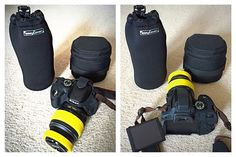 easyCover has the complete solutions for your camera and lens. The Lens Case X-large (20 cm) is the soft neoprene pouch designed to store, carry, and protect your lens. They are available in 5 diff…
