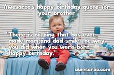 cute boy with birthday wish for brother