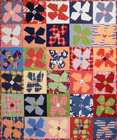 Love everything about this pinwheel/flower patchwork scrap quilt. Colorful Quilts, Small Quilts, Quilting Projects, Quilting Designs, Nancy Zieman, Flower Quilts, Quilt Modernen, Scrappy Quilts, Mini Quilts