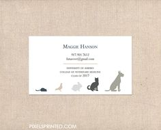 Business cards for veterinary clinics and veterinary students vet business cards for veterinary clinics and veterinary students colourmoves