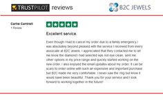B2C Jewels Review on Trust Pilot by Charlie