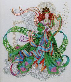 Barbara Baatz Masterpiece Collection CELTIC ANGEL - Counted Cross Stitch Pattern Chart - American School Of Needlework