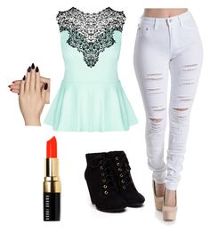 """""""Adria's"""" by puppy-love-68 on Polyvore featuring City Chic, Bobbi Brown Cosmetics and Static Nails"""