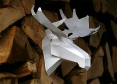 Mr WallMoose a papercraft by andisartshop on Etsy, €9.99