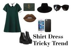"""""""Untitled #411"""" by lisamoon843 ❤ liked on Polyvore featuring Yves Saint Laurent, Lime Crime, rag & bone, Chanel and shirtdress"""