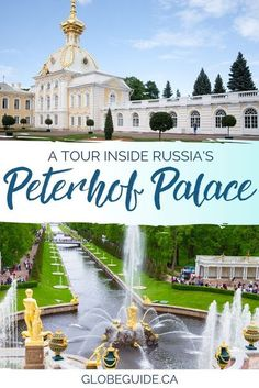 Get a glimpse inside Peterhof Palace, a magnificent estate designed by Peter the Great, and learn why it's a great day trip from St. Petersburg, #Russia. #Travel   #StPetersburg