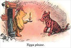 Tigga please... #winniethepooh #illustration #tigger #funny #humor