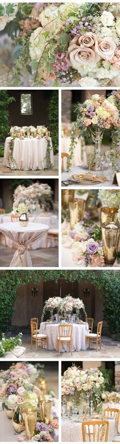 Natural pastel wedding flowers
