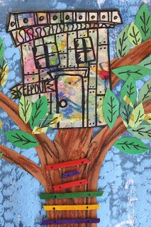 artrageousafternoon: Art Camp 2012/2 - oh a treehouse! Wouldn't that be fun>>