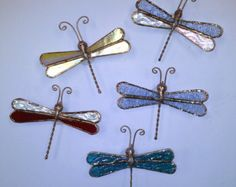Stained Glass Dragonfly Ornament Suncatcher by PineTreeGlassWorks