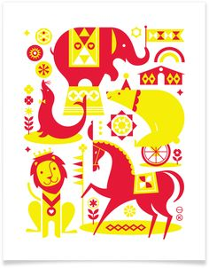Circus, an art print created for Heartwork, a project designed to raise money for art supplies within the art room at Target House.